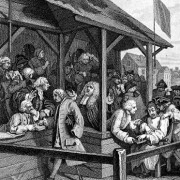 2015-5 No1 Detail from Hogarth Election 1754