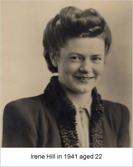 Irene Hill in 1941 aged 22