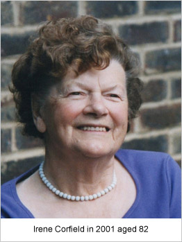Irene Corfield in 2001 aged 82