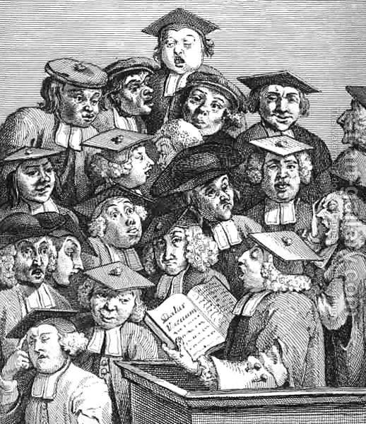 William Hogarth's Scholars at a Lecture, 1736
